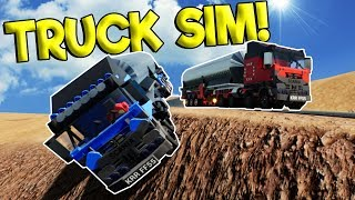 LEGO DIESEL TRUCK DRIVING SIMULATOR 2018! - Brick Rigs Roleplay Gameplay - Lego City Races