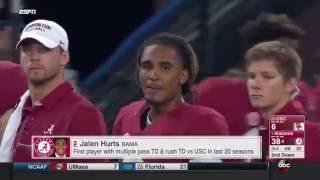 Jalen Hurts - Alabama vs USC, 2016