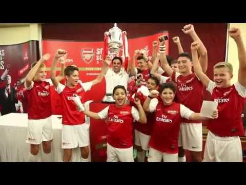 Mikel Arteta brings FA Cup to Dubai | Arsenal | Emirates