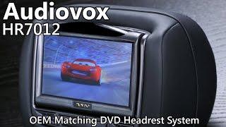Audiovox HR7012 Dual DVD Headrest System