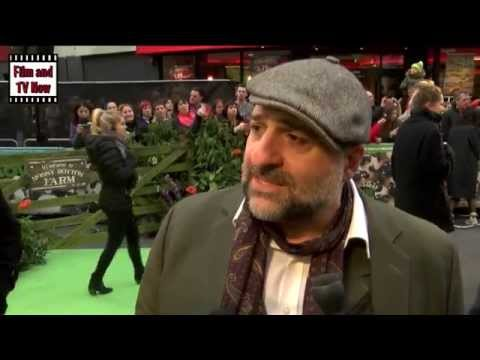 Omid Djalili Red Carpet Interview at the Shaun the Sheep Movie premiere