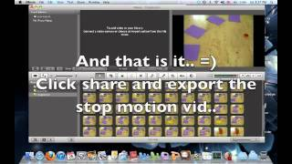 Tutorial: how to make stopmotion video (mac)