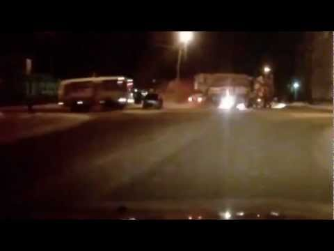Car Crashes into Truck Trailer