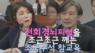 전희경의 막장 뇌피셜을 진지 근엄하게 깨부순 조국 수석 (feat.홍영표의 빅피처)