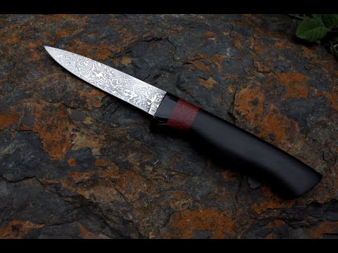 Forging damascus steel knife