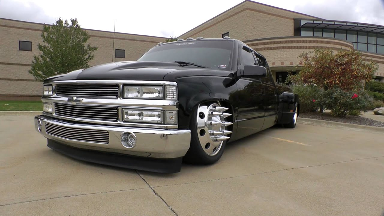 Bagged Chevy 3500 Dually - February 2013 - YouTube