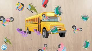 Bé ghép hình và học tên các phương tiện 1 ❤ Baby jigsaw vehicles ❤ Thế Giới Video