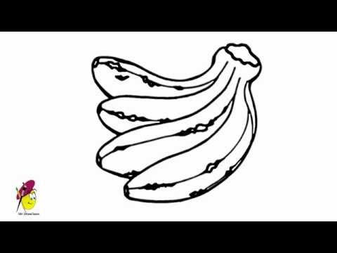 Bananas - How to draw Bananas - how to draw Fruits