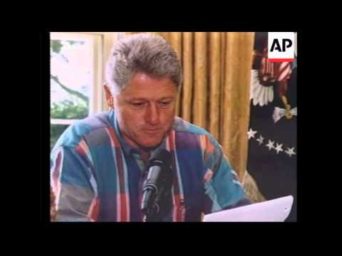 USA: PRESIDENT CLINTON WANTS MEXICO TO GET TOUGH ON DRUG TRAFFICKERS