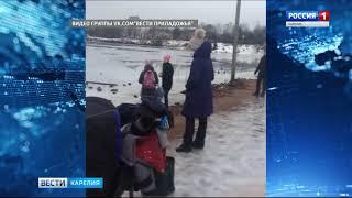 Сортавалец спас собаку из ледяной воды