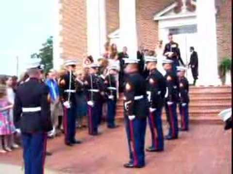 Marine Wedding Sword Ceremony