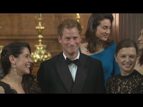 Harry Jokes About Being Seated Between Men At Women's Gala Dinner video