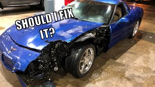 I WRECKED My Corvette TWICE In One NIGHT!!!