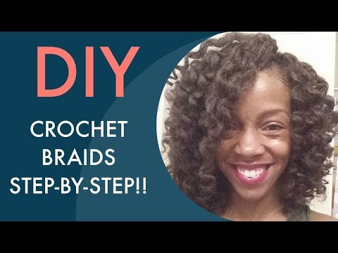 Crochet Braids Tutorial : 18 EASIEST CROCHET BRAID TUTORIAL EVER (Step-by-step w/ Marley hair ...