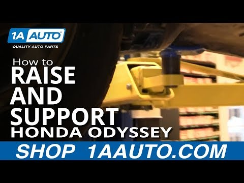 How Where to Jack Up Lift Honda Odyssey Mini Van 99-04 1AAuto.com