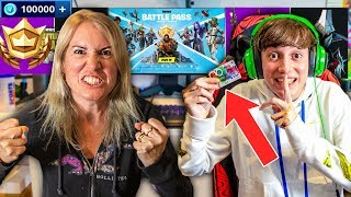 Kid Spends £3000 in *NEW* Fortnite Season 3 on Mums Credit Card (Level 100 Battle Pass!!)