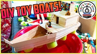 DIY TOY BOATS! Thomas and Friends Toy Trains and Crafts for Kids!