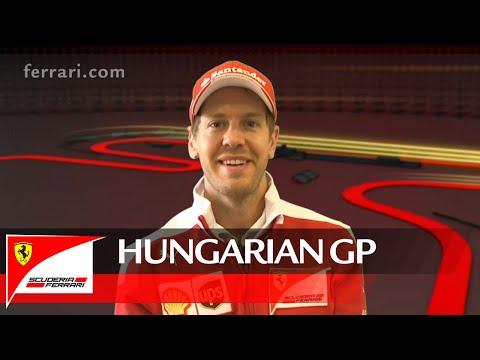 The Hungarian GP with Sebastian Vettel - Scuderia Ferrari 2016