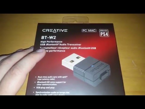 Creative BT-W2 Bluetooth-Audio USB-Transceiver UNBOXING / TEST