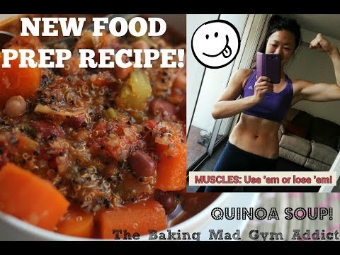FOOD PREP RECIPE - Quinoa Veggie Tomato Soup (cheap, clean, healthy and vegetarian)