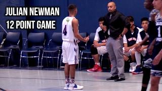 Freshman Julian Newman Scores 12 Points In HS Varsity Game, Full Highlights
