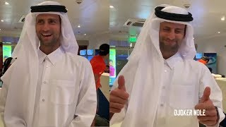 Novak Djokovic FUNNY MOMENT - Qatar 2019 (HD)