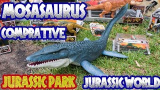 Mosasaurio comparative toy jurassic park unboxing review Jurassic world fallen kingdom