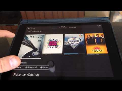 Demo of Xfinity X1 Cloud DVR iOS App