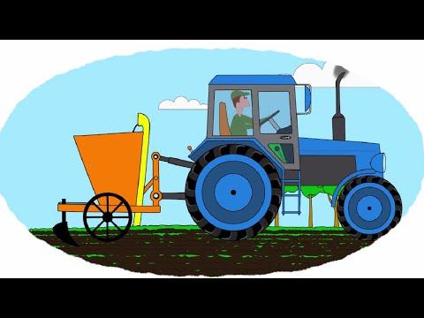 Смотреть мультик про трактор раскраска