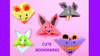 DIY 5 MUST TRY ANIMALS Bookmark Corner CRAFTS ||Easy Paper Monster  Bookmarks|Origami Bookmarks|