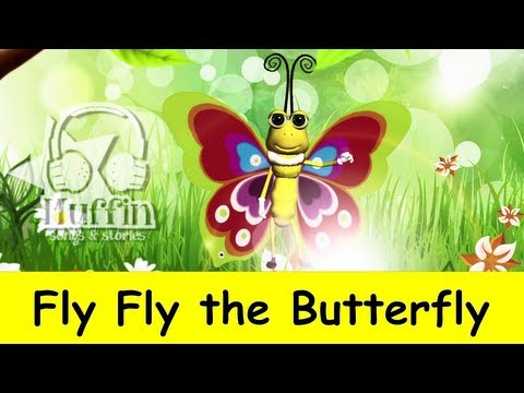 Muffin Songs - Fly Fly The Butterfly | Nursery Rhymes & Children Songs With Lyrics video
