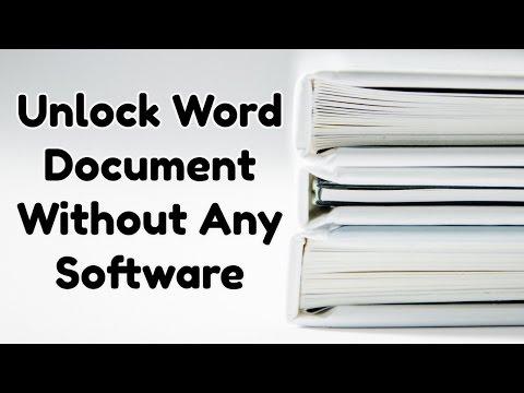 Unlock word doc