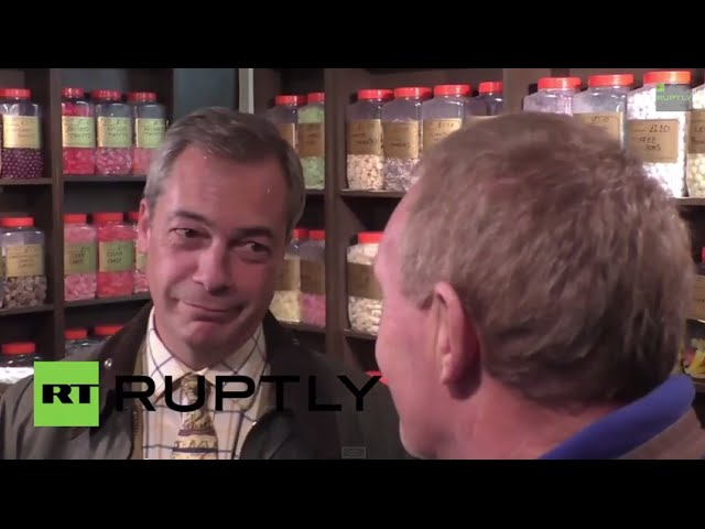 "UK: ""French-loving"" Farage indulges his election day sweet tooth in Rochester"