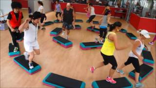 Freestyle Step Aerobics. MultiStep with Step4UWorld