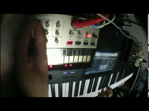 KORG Volca Keys : MIDI connecting test and Jam with Volca Beats and MS-20 mini