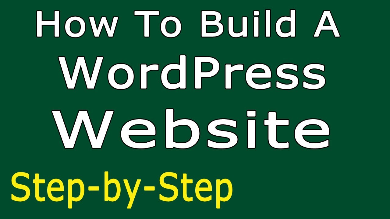 How to build a wordpress website simple step by step Build easy website