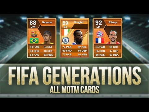 FIFA Generations | ALL MOTM (Man of the Match) CARDS!