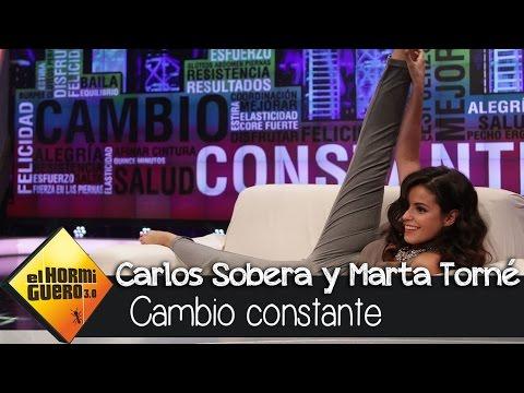 Marta Torné y Carlos Sobera se ejercitan con Pilar Rubio en El Hormiguero 3.0