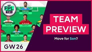 FPL TEAM SELECTION: GW26 | Move for Son? Gameweek 26 | Fantasy Premier League 2018/19