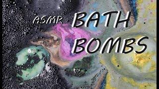 [ASMR] LUSH Bath Bombs Fizzing (Worlds Smallest Disco, Golden Wonder, Perle De Sel)