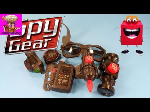 ♥ 2014 Spy Gear - McDonald's Happy Meal Toys Review - Set of 6