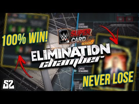 GUARANTEED WINS IN ELIMINATION CHAMBER! HOW TO NEVER LOSE | WWE SuperCard Season 4