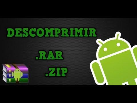 Como descomprimir archivos .zip o .rar en Android