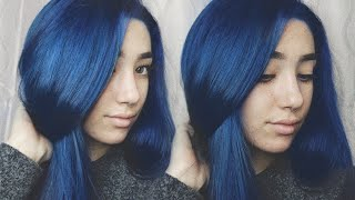 BLEACHING & DYEING MY HAIR BLUE! Ft. Adore Hair Dye
