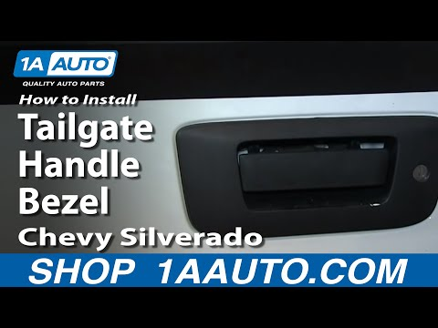 How To Install Replace Tailgate Handle Bezel 2007-13 Chevy Silverado GMC Sierra