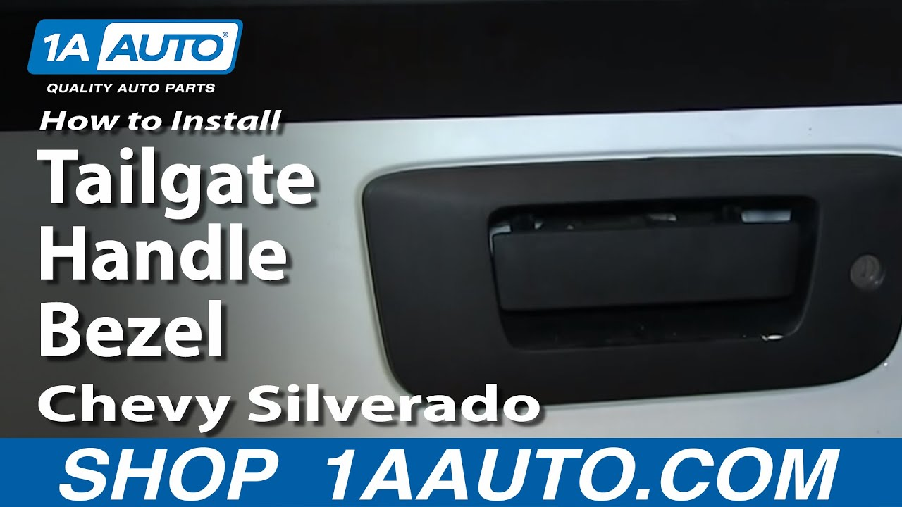 How To Install Replace Tailgate Handle Bezel 2007 13 Chevy