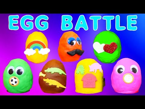 Play Doh Battle Surprise Eggs Zelfs Spongebob Peppa Pig Frozen ...