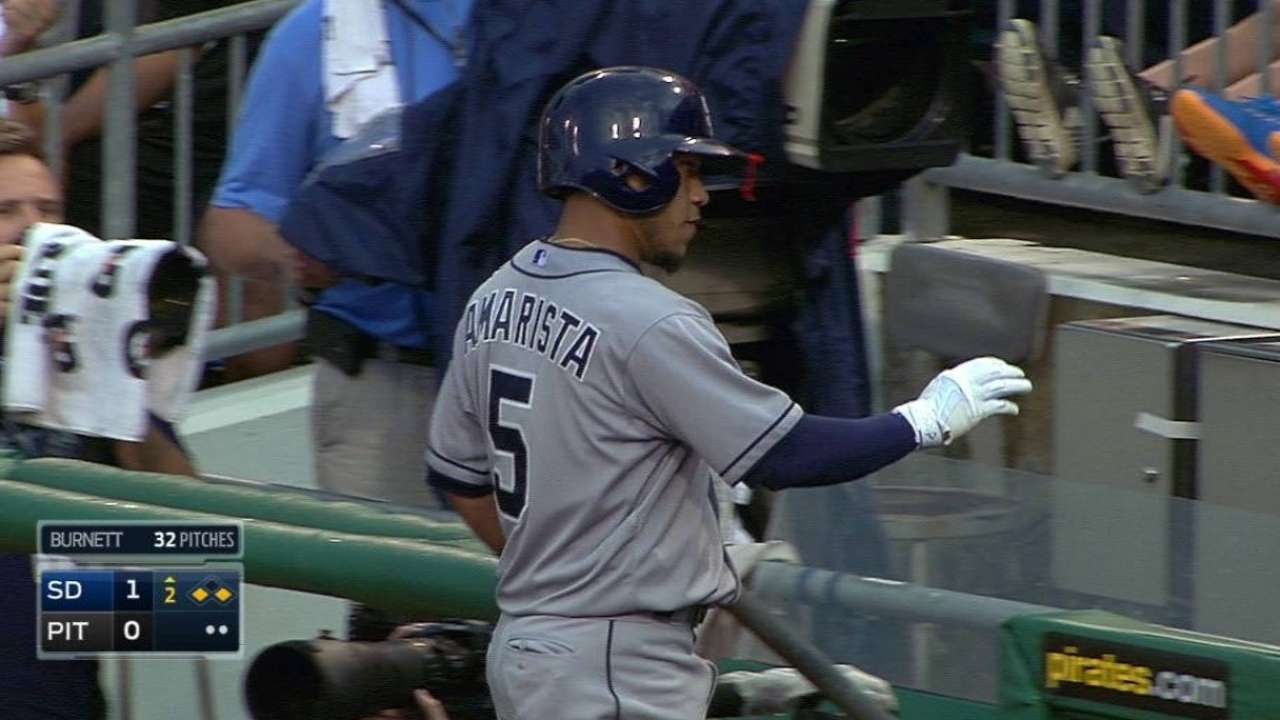 SD@PIT: Amarista opens scoring with sacrifice fly
