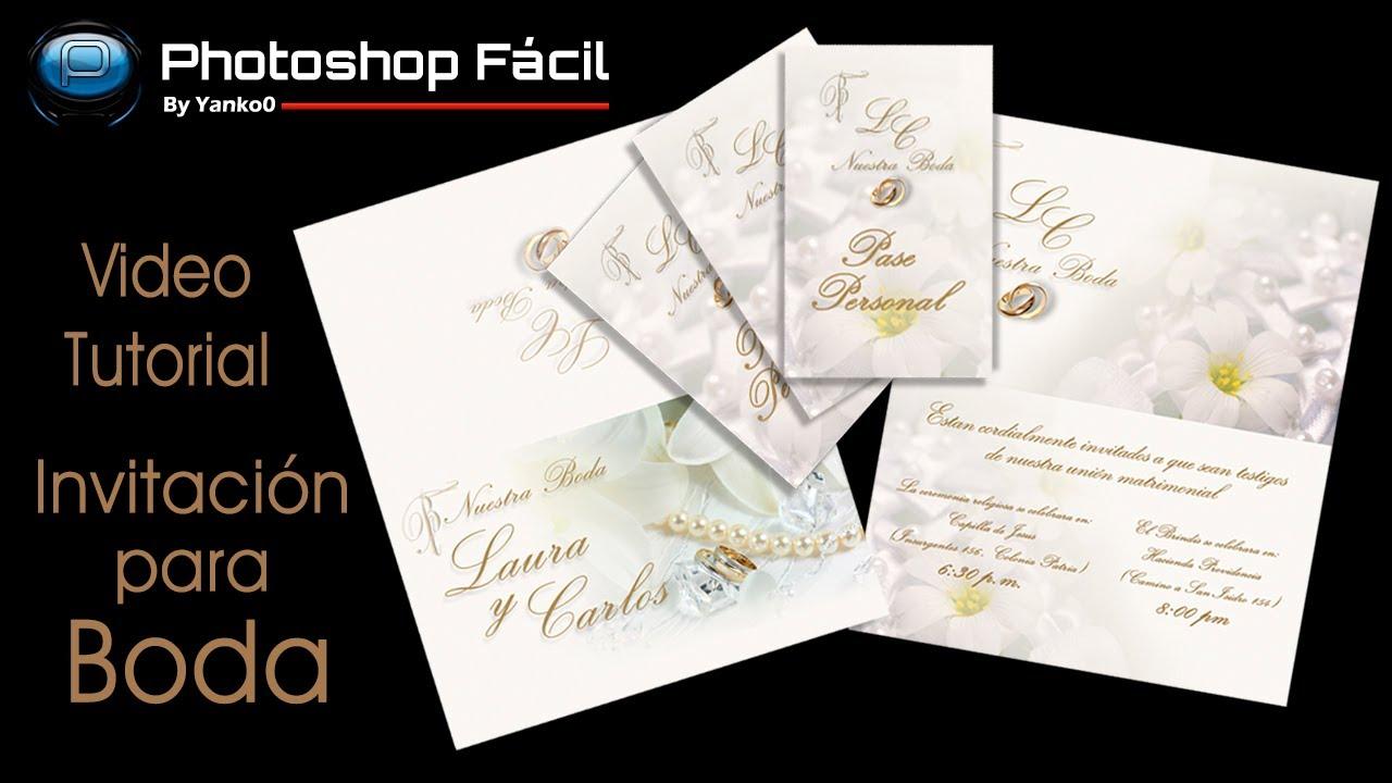 Invitacion para boda photoshop f cil by yanko0 youtube - Como hacer una boda diferente ...