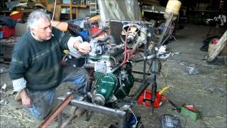 Démarrage d'un moteur d' Alpine A108